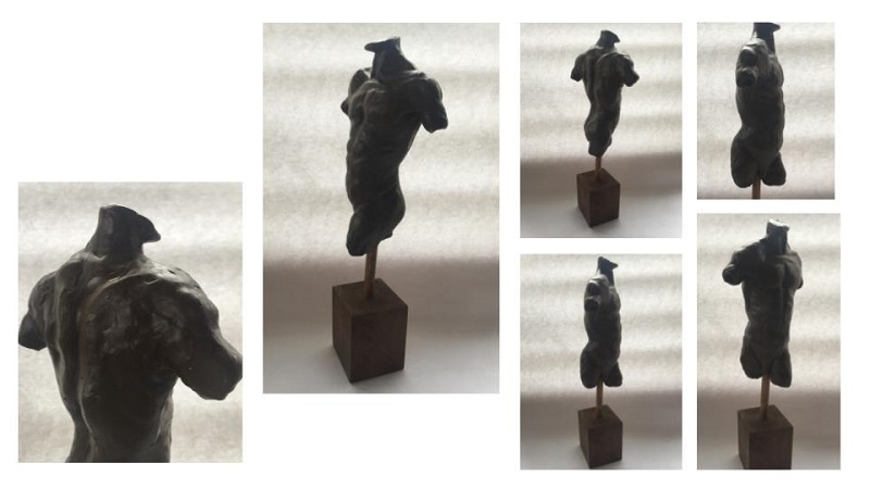 'Life Sculpture - the Male form' wax. 45cm x 12cm